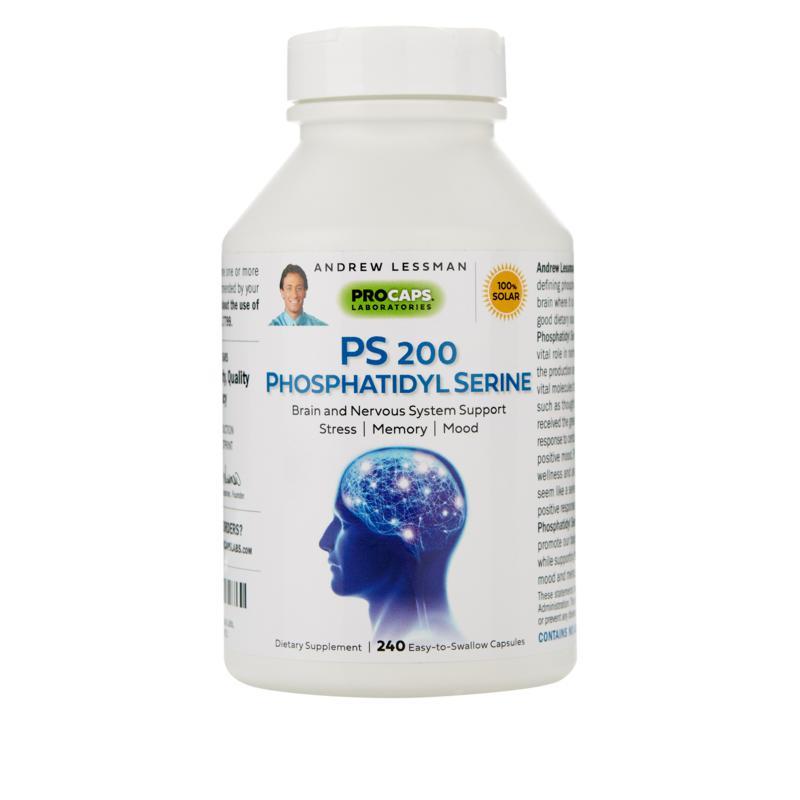 PS 200 Phosphatidyl Serine - 240 Capsules