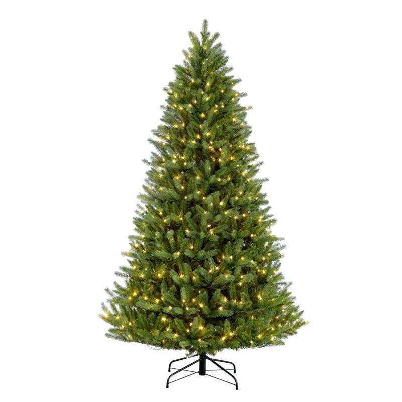 Puleo 9 ft. Pre-Lit Green Mountain Fir Artificial Christmas Tree