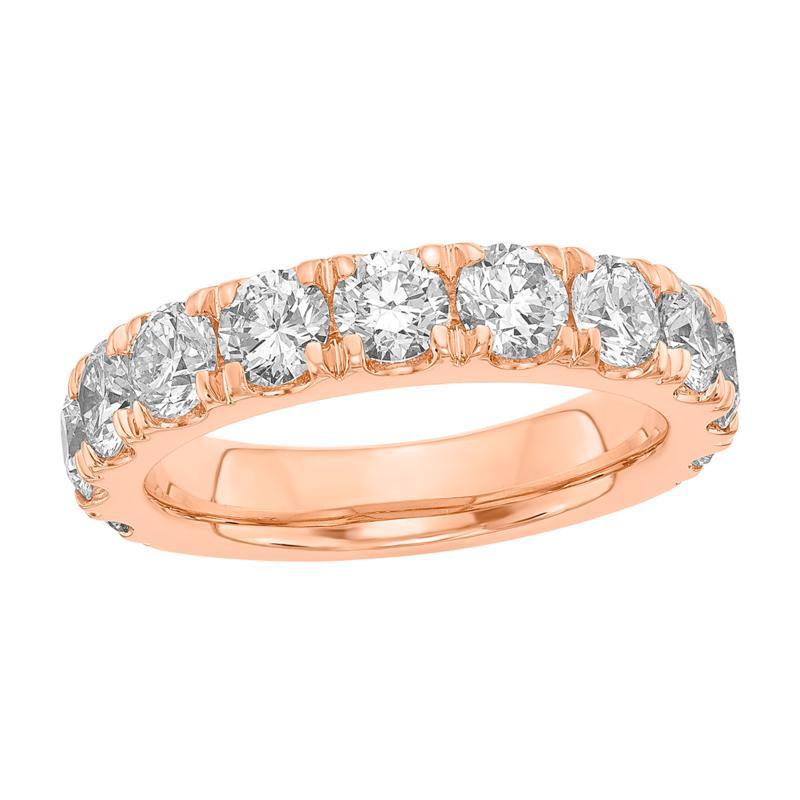 Radiant Fire 14K Gold 2ctw Lab-Grown Diamond Round Wedding Band Ring