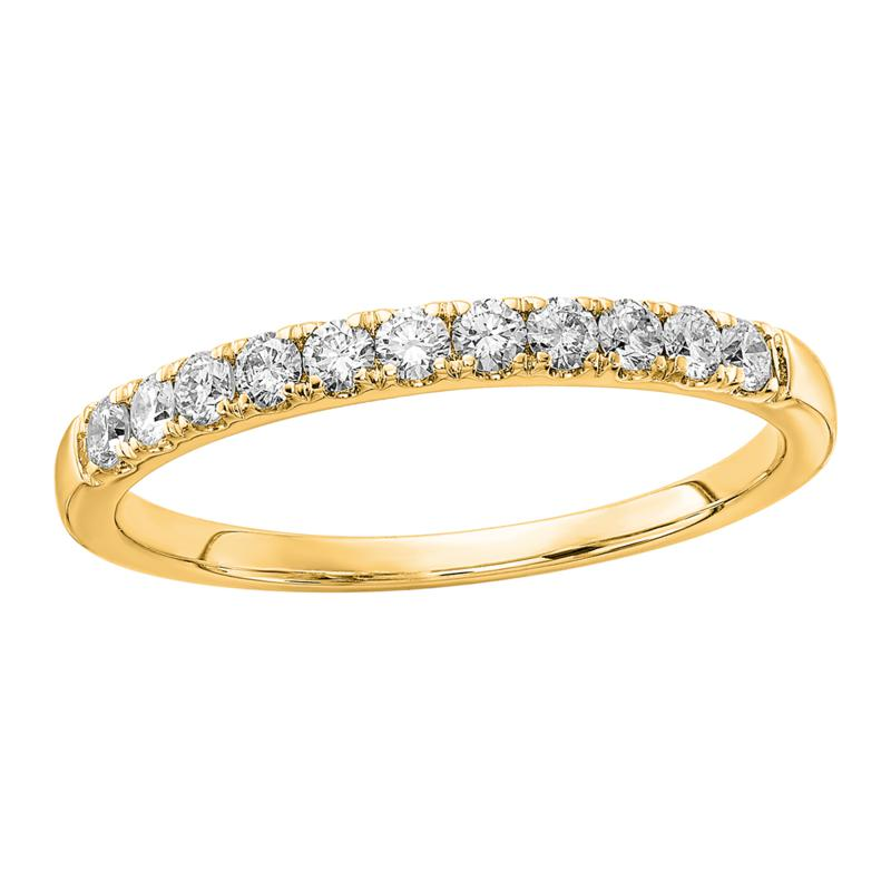 Radiant Fire 14K Gold .33ctw Lab-Grown Diamond Round  Wedding Ring