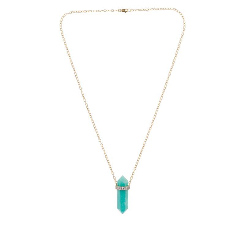 Rarities Gemstone Pencil Pendant Necklace