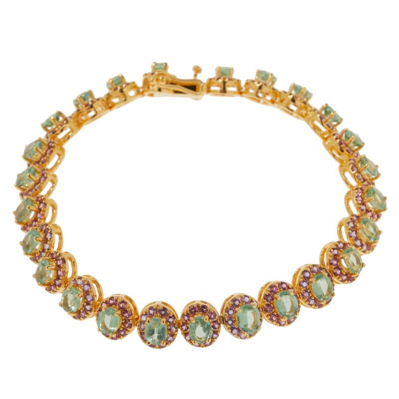 Rarities Gold-Plated Mint Kyanite Multigem Bracelet