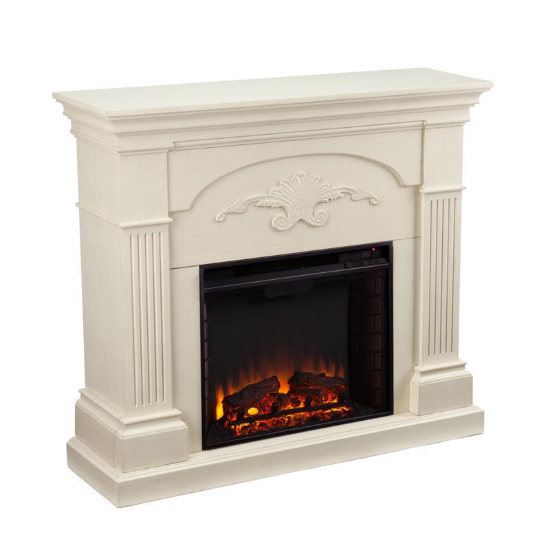 Ravenna Electric Fireplace - Ivory