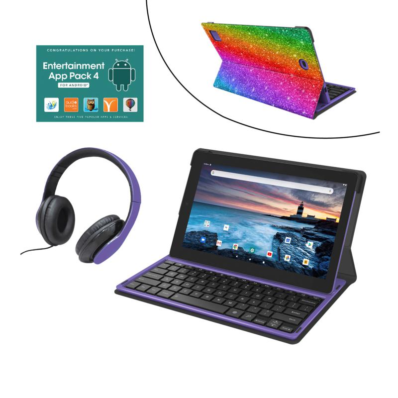 """RCA 11.6"""" 128GB 2-in-1 Tablet with Keyboard and DJ Headphones"""