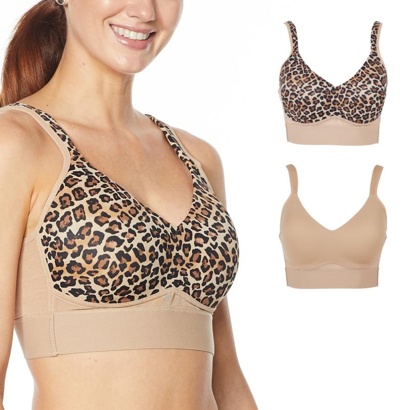 Rhonda Shear 2-pack Molded Cup Bra with Mesh Back Detail
