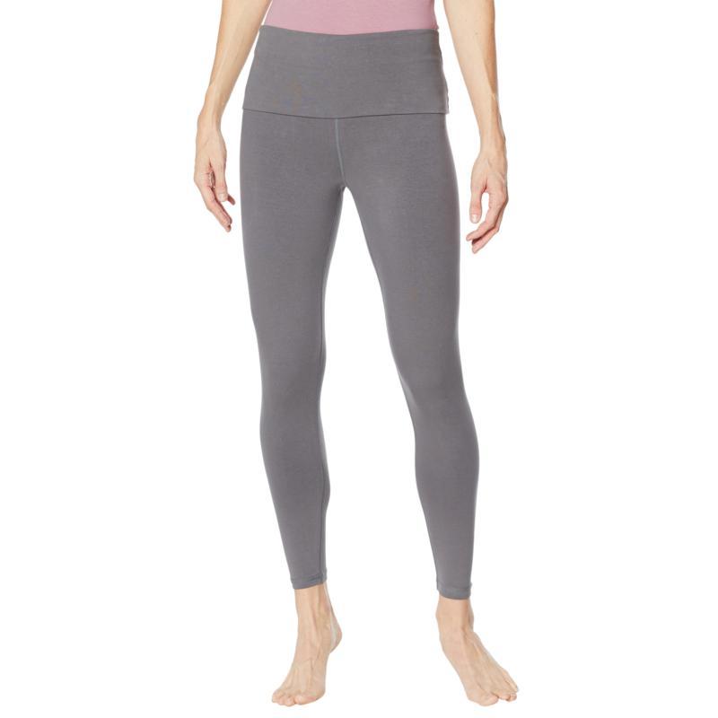 Rhonda Shear Cotton-Blend Foldover Waist Legging