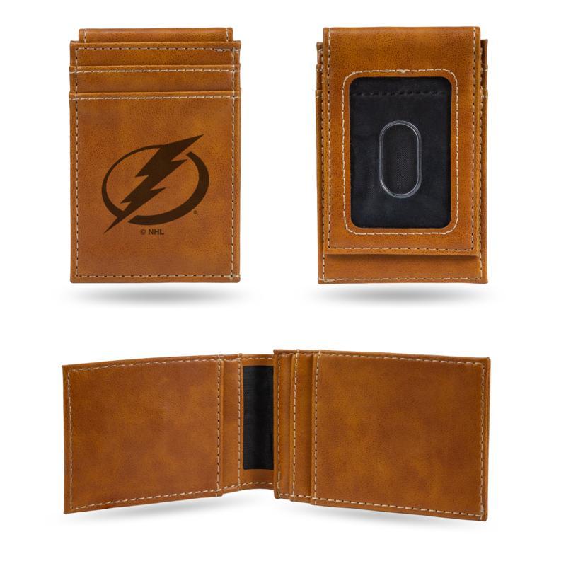 Rico Lightning Laser-Engraved Brown Front Pocket Wallet