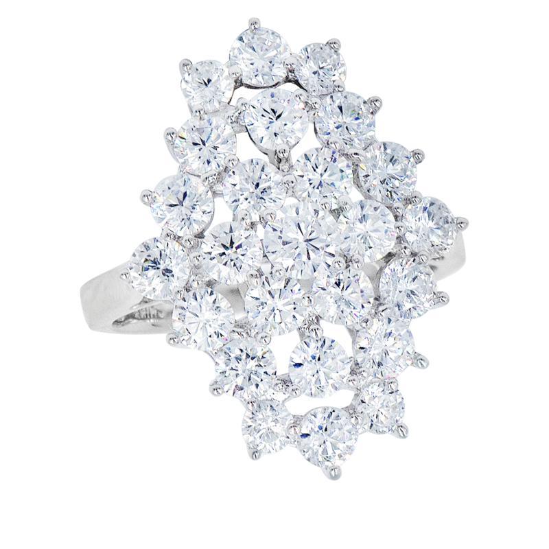 "Robert Manse ""CZ RoManse"" Sterling Silver Round Stone Cluster Ring"