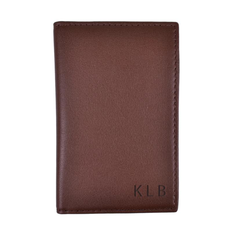 Royce Leather Personalizable RFID Card Case