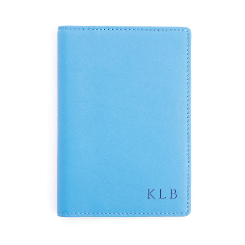 Royce Leather Personalizable RFID Plain Passport Jacket