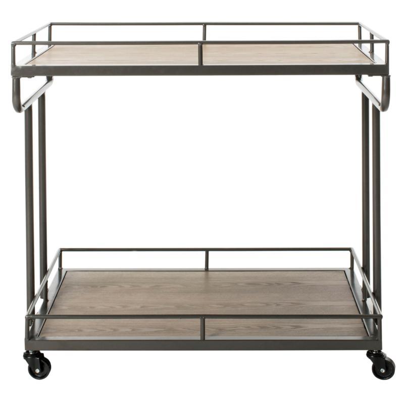 Safavieh Dawson 2-Tier Charcoal Rectangular Bar Cart