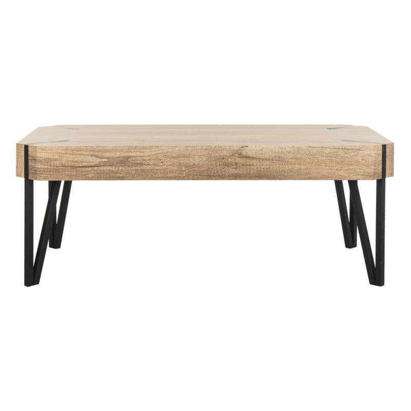 Safavieh Liann Mid-Century Rustic Wood-Top Coffee Table