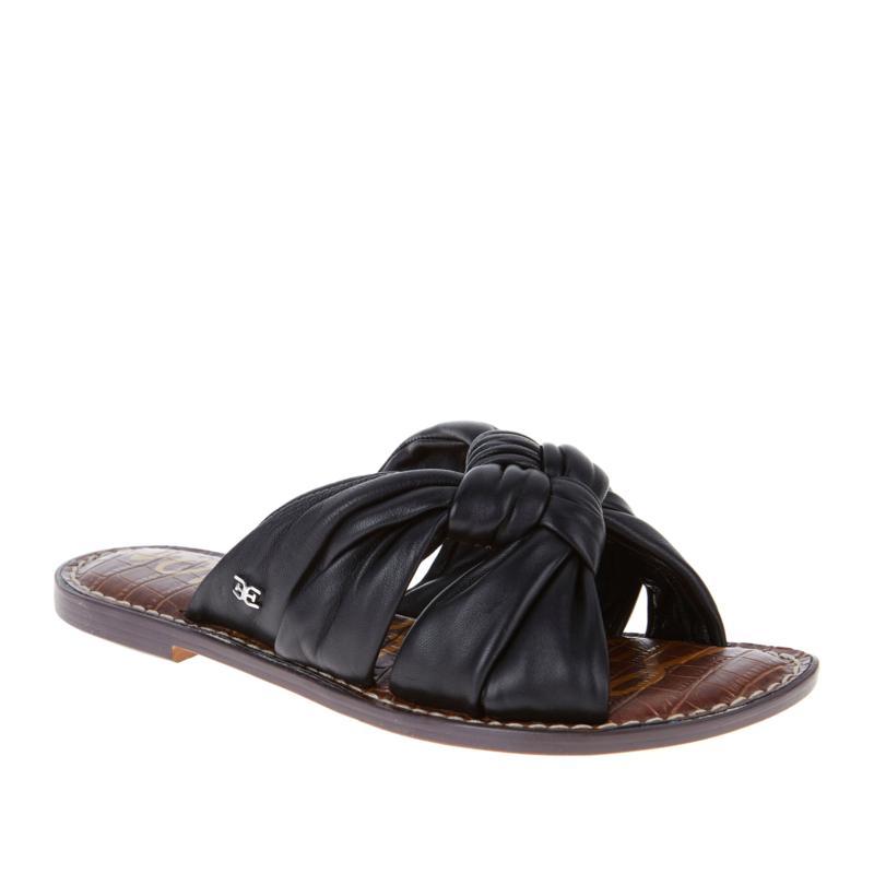 Sam Edelman Garson Leather Knotted Flat Slide Sandal