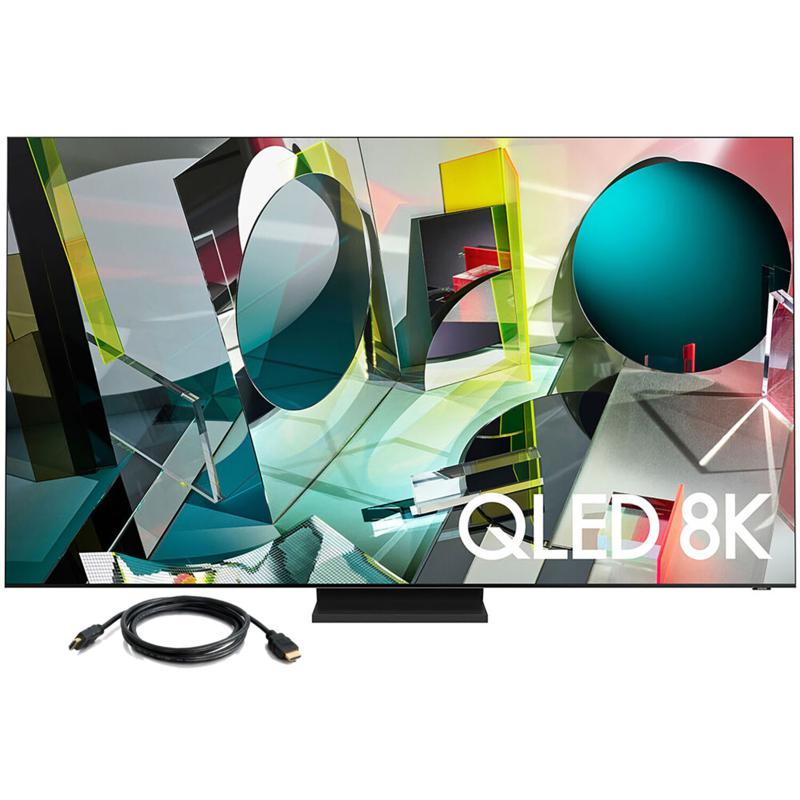 """Samsung 65"""" Q900T QLED 8K UHD HDR Smart TV with HDMI Cable"""