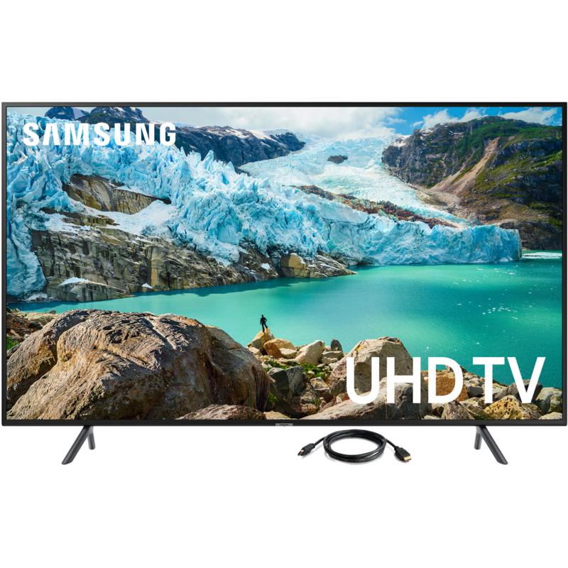 "Samsung RU7100 55"" LED Flat 4K UHD Television with 6' HDMI Cable"