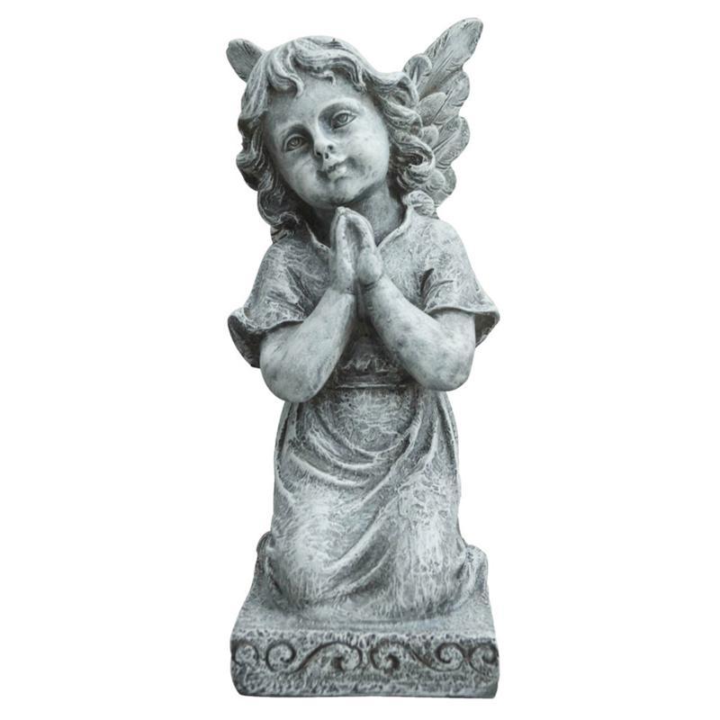 Santa's Workshop Grey Praying Angel Statue