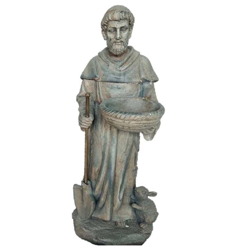 Santa's Workshops Cold Cast Saint Fiacre Statue