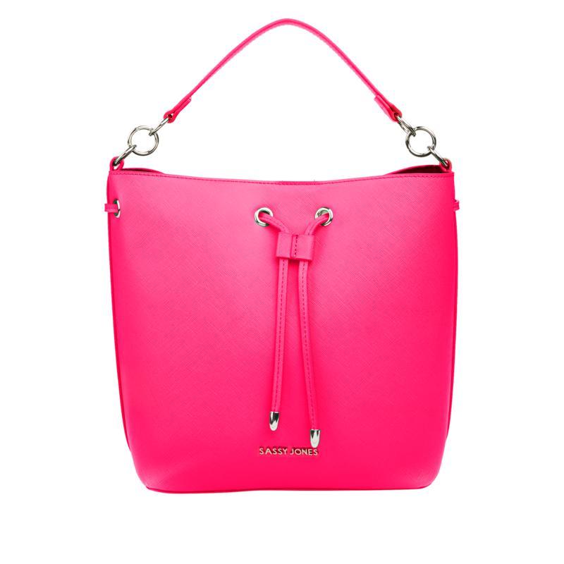 Sassy Jones Emma Saffiano Faux Leather Bucket Bag