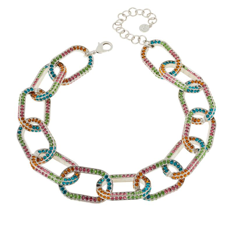 Sassy Jones Kerri Pavé Crystal Link Necklace