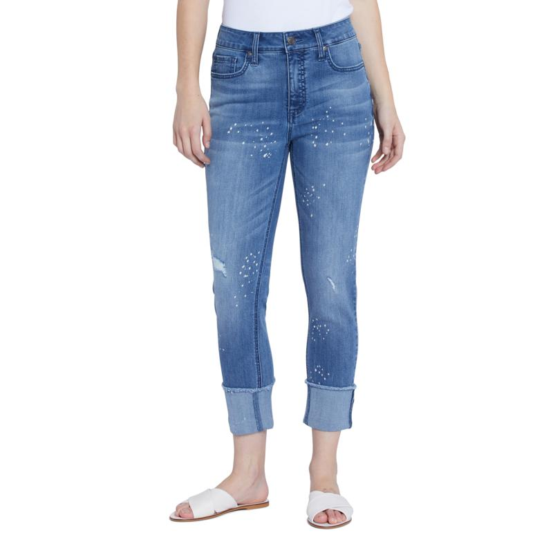 Seven7 High-rise Slim Straight Cuff Jean