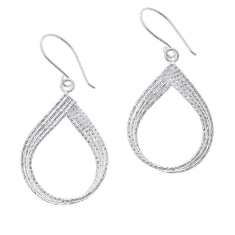 Sevilla Silver™ Diamond-Cut Teardrop Earrings