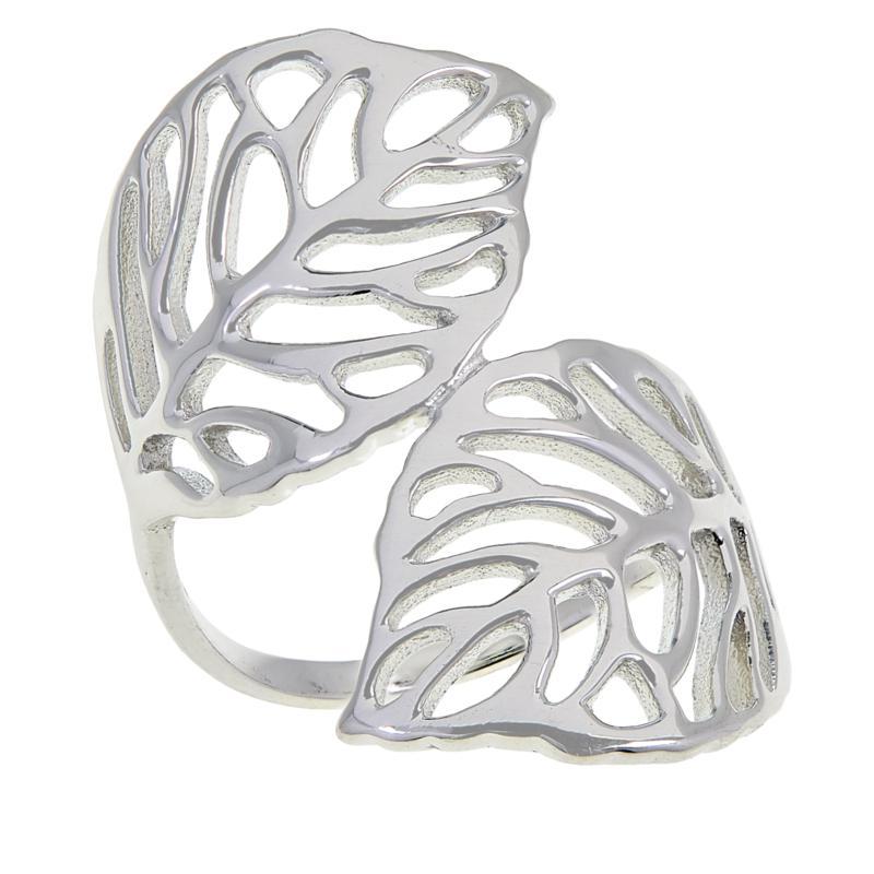 Sevilla Silver™ Leaf Bypass Ring