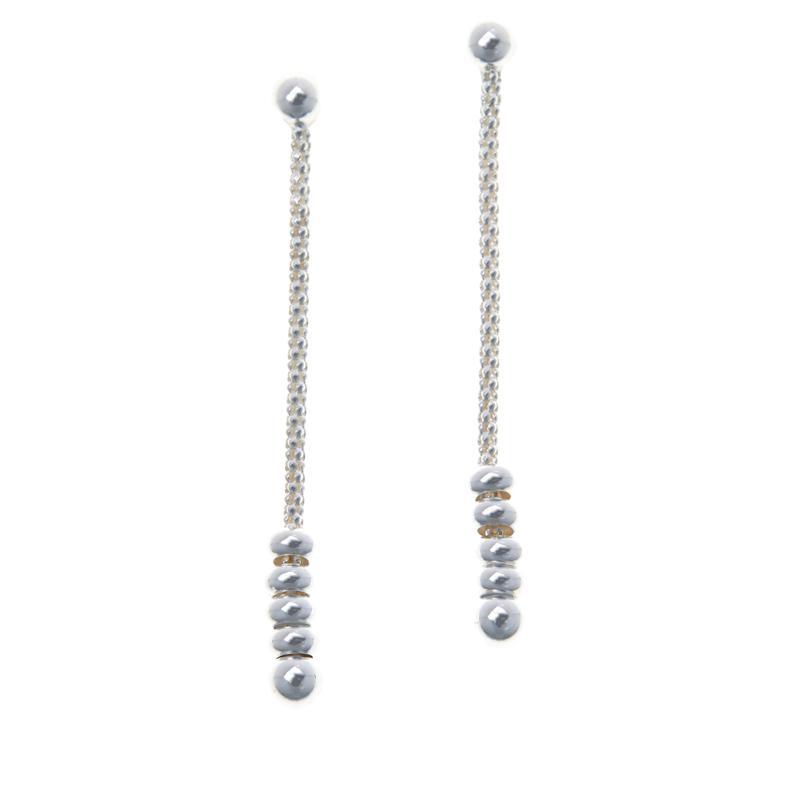 Sevilla Silver™ Linear Drop Bead Earrings