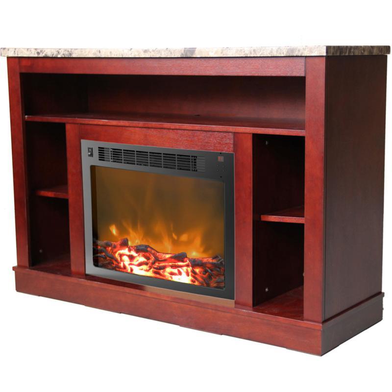 Seville Fireplace Mantel w/Electronic Fireplace Insert