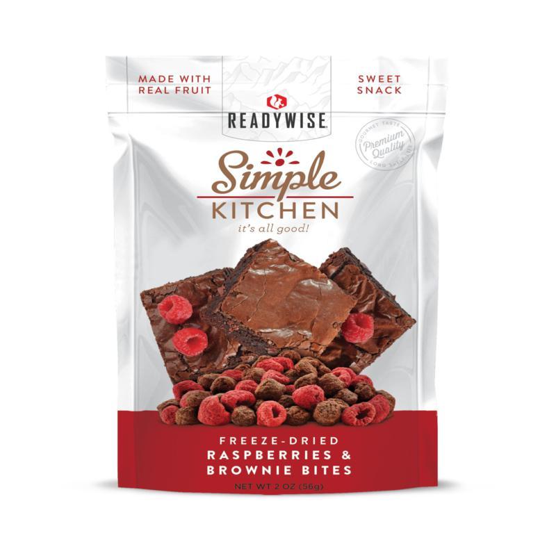 Simple Kitchen Raspberries and Brownie Bites 6-pack
