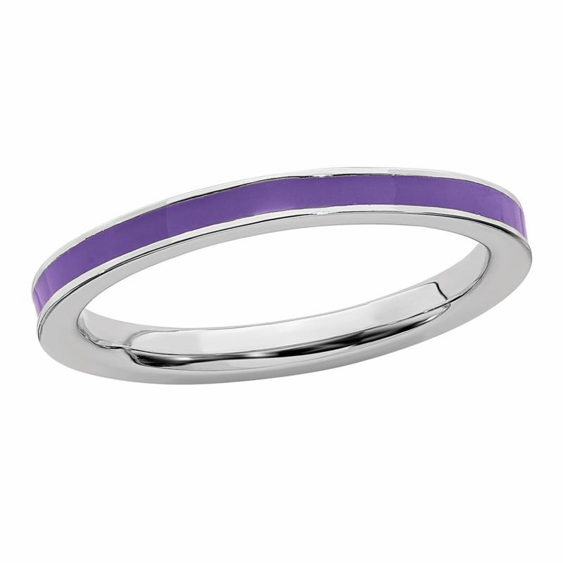 Simply Stacks™ 2.25mm Enameled Sterling Silver Stackable Ring