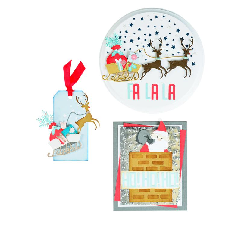 Sizzix® Santa Slider Card Dies Card Making Kit