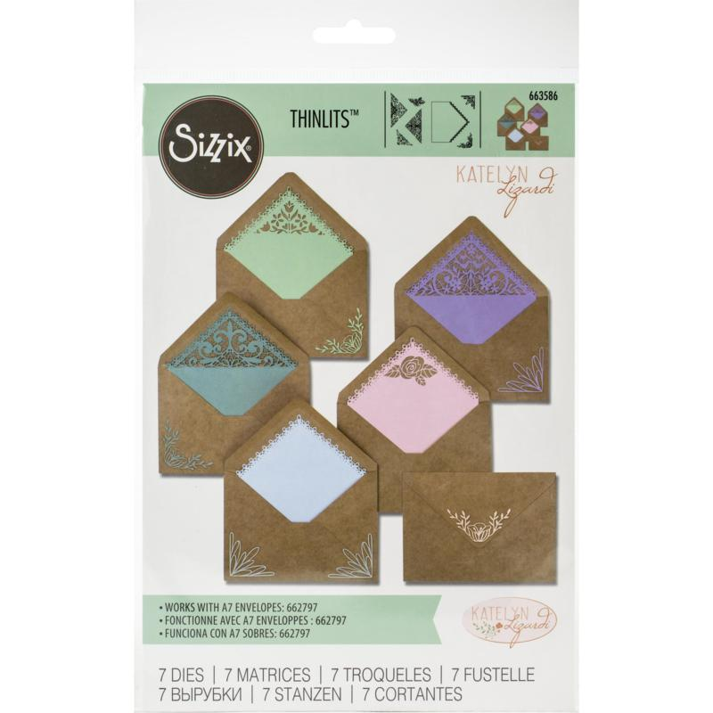 Sizzix Thinlits Dies By Katelyn Lizardi 7-pack - Envelope Liners