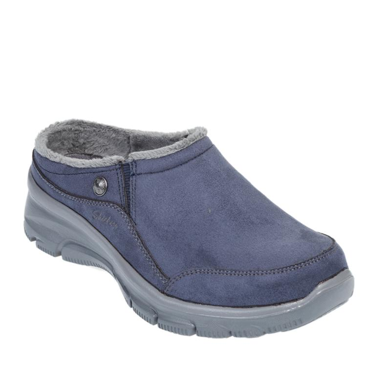 Skechers Easy Going Latte Faux Suede Clog