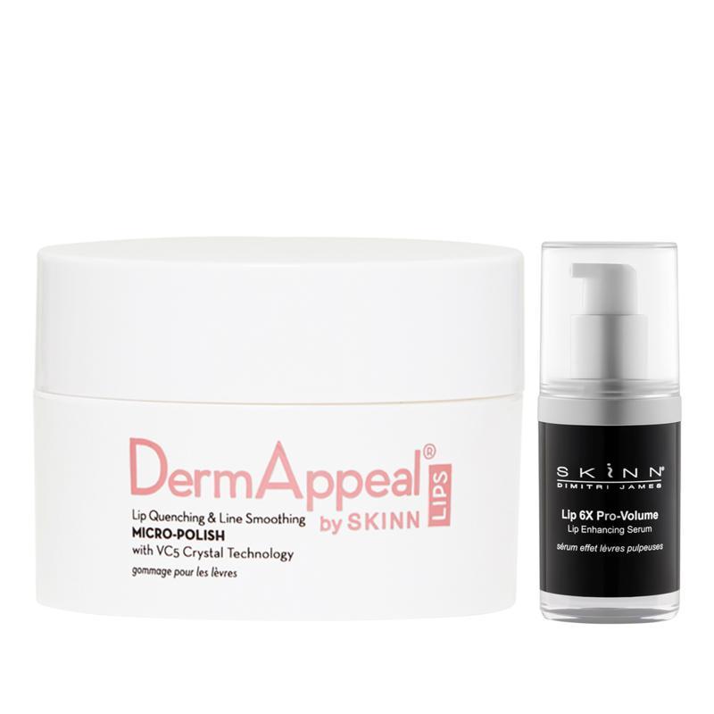 Skinn® Cosmetics DermAppeal® Lips Micro-Polish & Lip 6X Serum Set