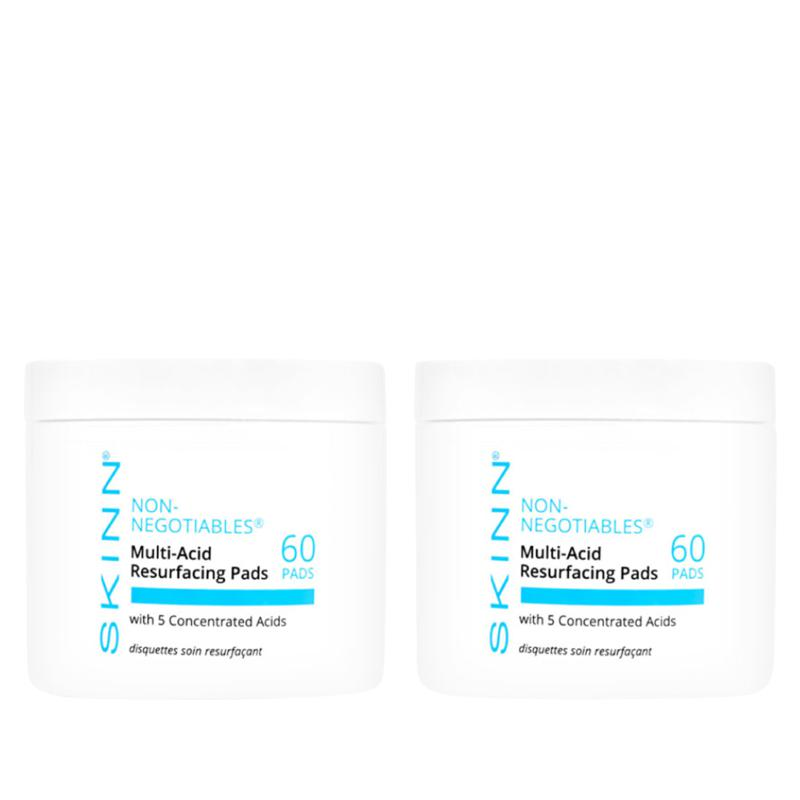 Skinn® Cosmetics Non-Negotiables 2-pack Multi-Acid Resurfacing Pads