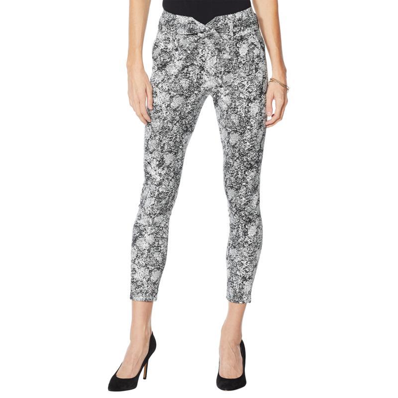 Skinnygirl Tie-Belt Skinny Ankle Jean