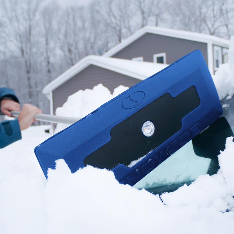 Snow Joe® 2-pack LED Snow Broom and Ice Scraper