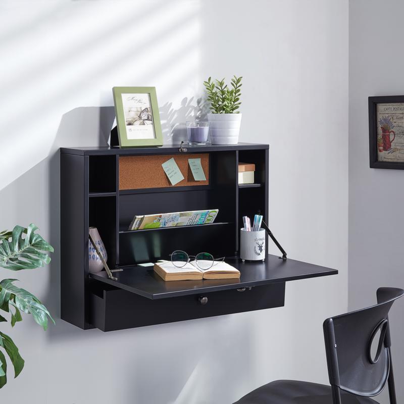 Southern Enterprises Wall Mount Laptop Desk - Black