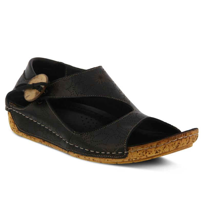 Spring Step Lorelle Leather Asymmetric Sandal