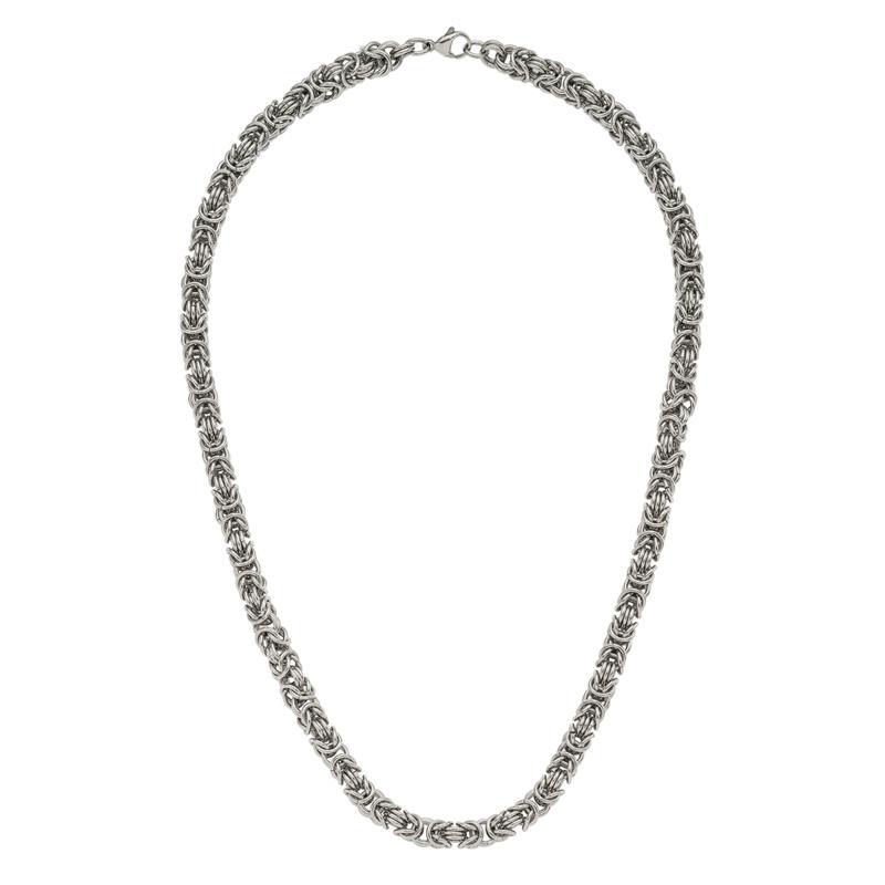 "Stately Steel 18"" Byzantine Chain"
