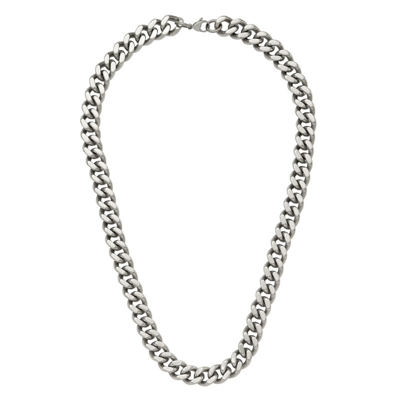 """Stately Steel 22"""" Curb Chain Necklace"""