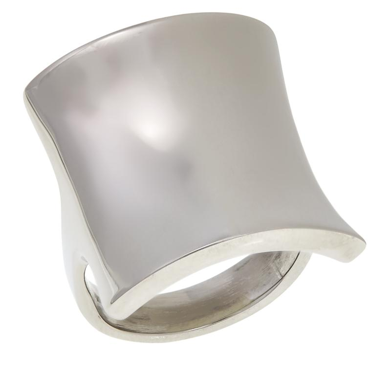 Stately Steel Bold Square Ring
