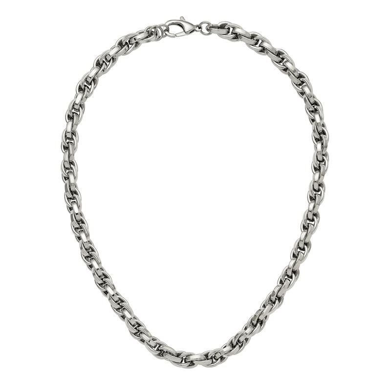 Stately Steel Men's Loose Rope Chain