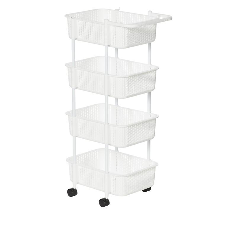 StoreSmith 4-Tier Rolling Cart