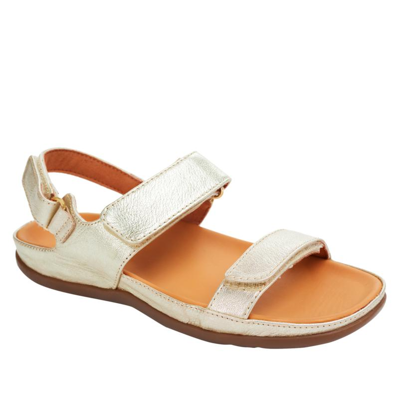 Strive Kona Ladies Navy Off White Marshmallow Leather Sling Back Sandals