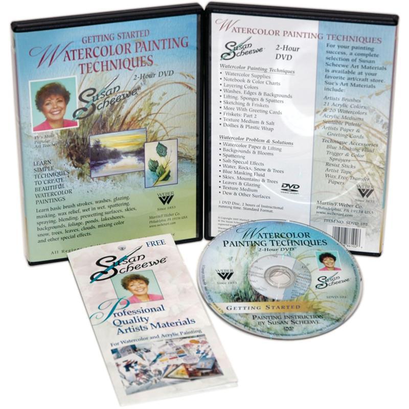 Susan Scheewe Painting DVD - Watercolor Techniques