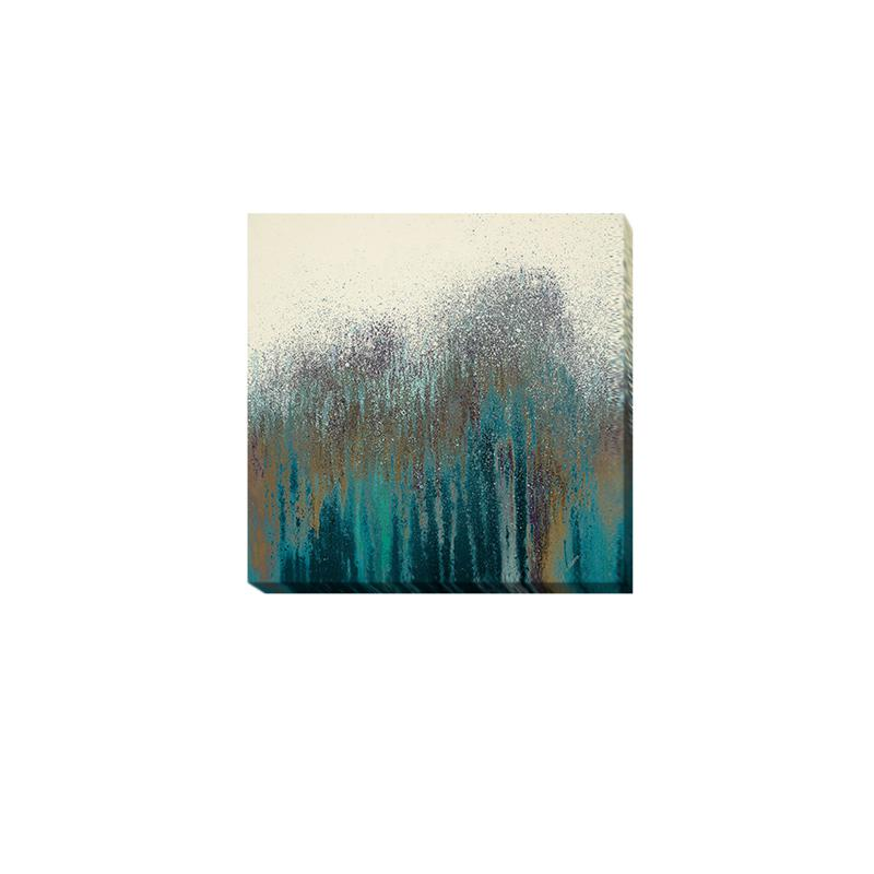 """""""Teal Woods"""" Gallery-Wrapped Canvas Art"""