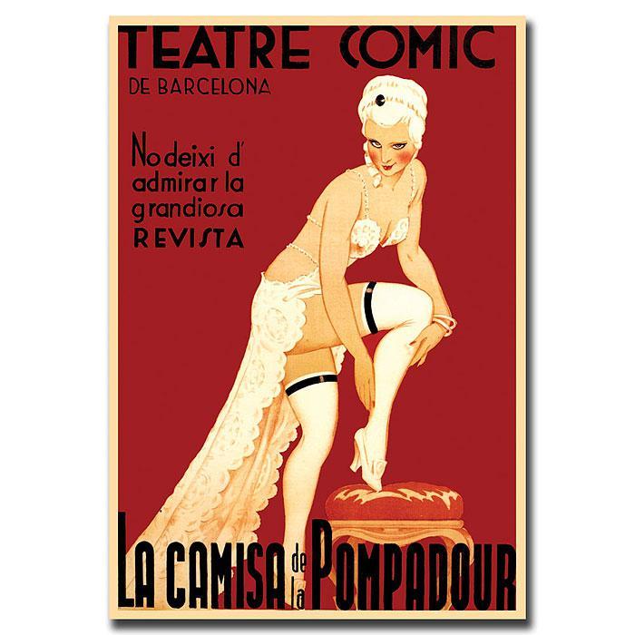 """Teatre Comic de Barcelona' Canvas Art - 18"""" x 24"""""""