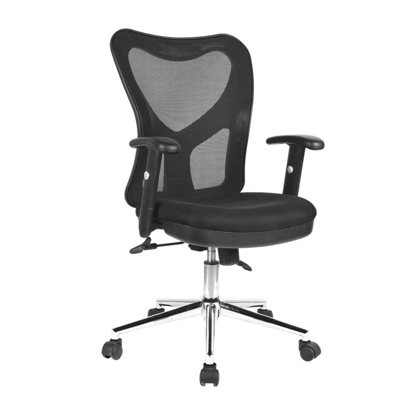 Techni Mobili High Back Mesh Office Chair with Chrome Base