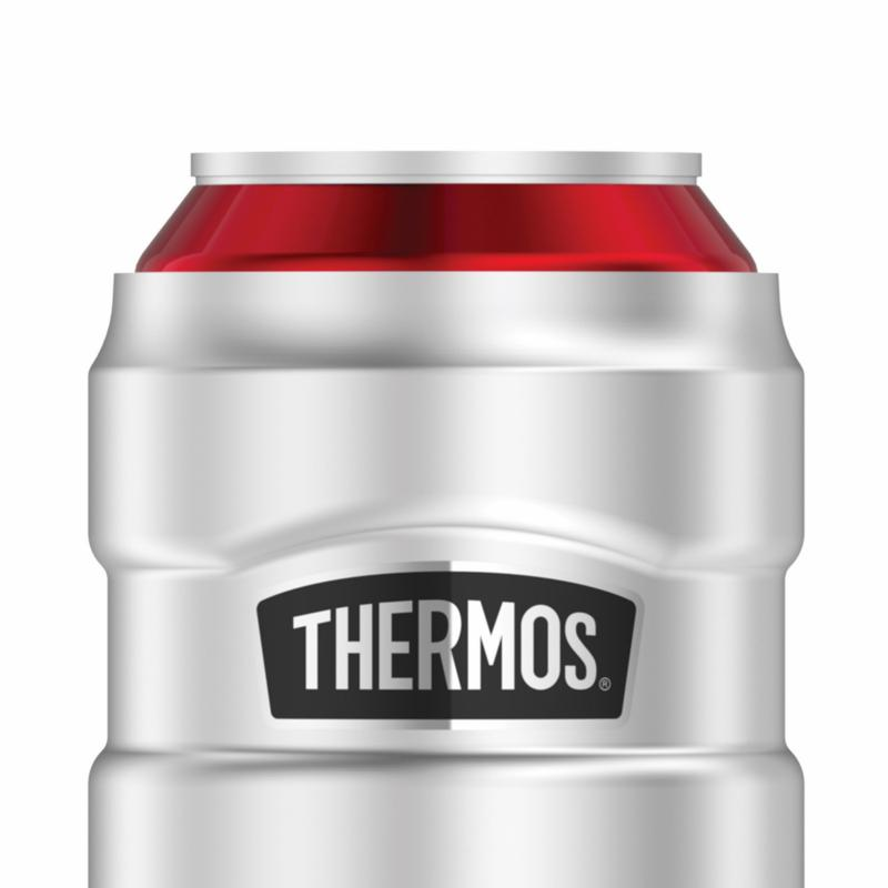 Thermos Brand Stainless 10oz 12hr Can Insulator//Tumbler w//360 degree Sipping Lid